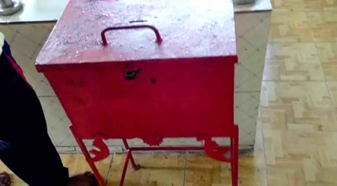 donation box targeted by thieves in Bistupur Kali Mandir