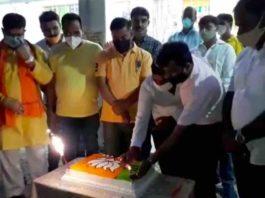 Jamshedpur Mahanagar BJP celebrates Amit Shah's birth day at Sakchi office